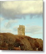 Castle With Sheep Metal Print