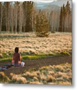 Contemplative Meditation Metal Print