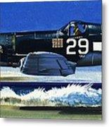 Into The Blue American War Planes Metal Print