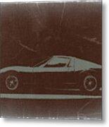 Lamborghini Miura Metal Print by Naxart Studio