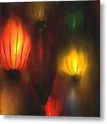 Orange Lantern Metal Print