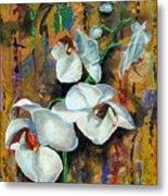 Orchid Yo Metal Print
