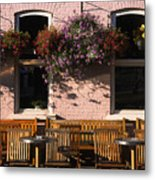 Pink Hotel Quebec City Metal Print