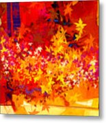 Red Autumn Metal Print