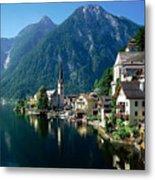 Riverfront  Reflection Austria Metal Print