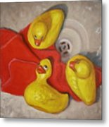 Three Rubber Ducks  #1 Metal Print