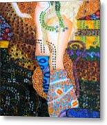 Water Serpents Reply By Gustav Klimt Metal Print