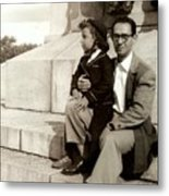 With Dad On Mount Royal Metal Print