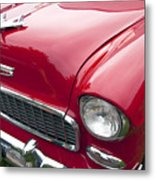 1955 Chevrolet Bel Air Hood Ornament Metal Print