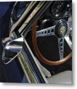 1963 Jaguar Xke Roadster Steering Wheel Metal Print