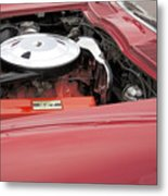 1963 Red Corvette Metal Print