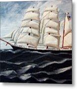 3 Master Tall Ship Metal Print