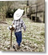 A Boy And His Horse Metal Print