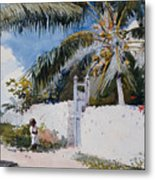 A Garden In Nassau Metal Print by Winslow Homer