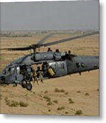A U.s. Air Force Hh-60 Pavehawk Flies Metal Print