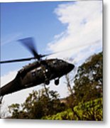 A U.s. Army Uh-60 Black Hawk Helicopter Metal Print
