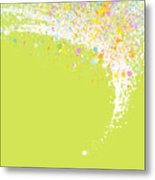 Abstract Curved Metal Print