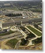 Aerial Photograph Of The Pentagon Metal Print