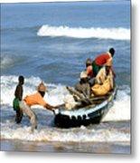 African Fishermen 1971 Metal Print