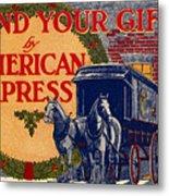 American Express Shipping Metal Print