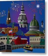 Annapolis Holiday Metal Print