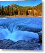 Athabasca Falls In Jasper National Park Metal Print