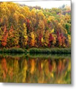Autumn Big Ditch Lake Metal Print