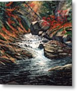 Autumn Brook Metal Print