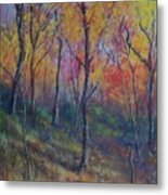 Autumn Hillside Metal Print