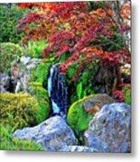 Autumn Waterfall - Digital Art 5x3 Metal Print