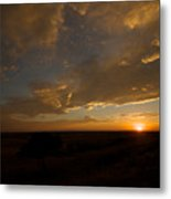 Badlands Sunset Metal Print