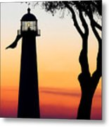 Biloxi Lighthouse At Dusk Metal Print