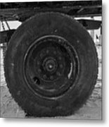Black Wheel Metal Print