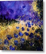 Blue Cornflowers Metal Print