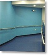 Blue Corridor Metal Print