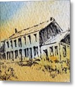 Boardinghouse Cable Ghost Town Montana Metal Print