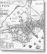 Boston Map, 1722 Metal Print