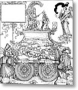 Burgkmair - Maximilian Metal Print