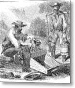 California Gold Rush, 1860 Metal Print