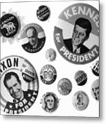 Campaign Buttons Metal Print