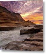 Cape Kiwanda Sunset Metal Print