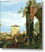 Capriccio With Motifs From Padua Metal Print