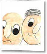 Cartoon Faces Metal Print