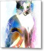 Cat Of Many Colors Metal Print