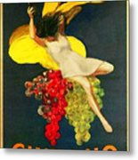 Cinzano Girl Metal Print