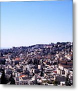 City Of Nazareth From The Saint Gabriel Bell Tower Metal Print