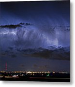 Cloud To Cloud Lightning Boulder County Colorado Metal Print