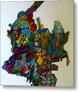 Colombia Metal Print by MikAn 'sArt