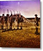 Colonial Soldiers At Fort Mifflin Metal Print