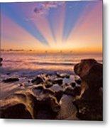 Coral Cove Metal Print by Debra and Dave Vanderlaan